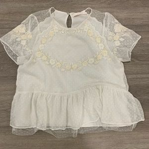 Embroidered Zara blouse